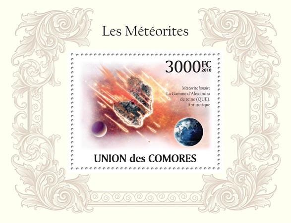 Meteorites in Antarctic - Issue of Comoros postage stamps