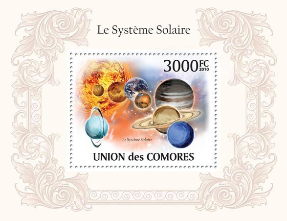 The Solar System - Issue of Comoros postage stamps
