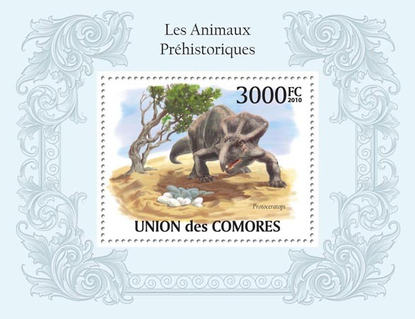 Prehistoric Animals, Dinosaurs - Issue of Comoros postage stamps