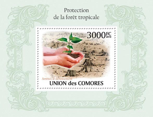 Protection of Tropic Forests. - Issue of Comoros postage stamps