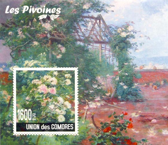 Flower of China - Issue of Comoros postage stamps