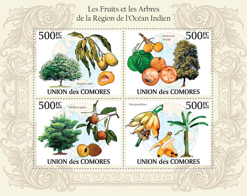 Fruits & Trees in Region of Indian Ocean. - Issue of Comoros postage stamps
