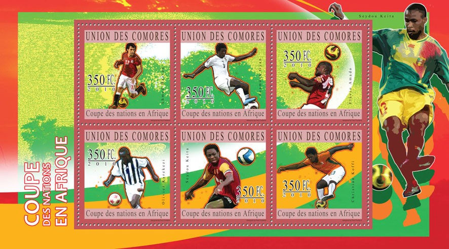 Football Cup of African Nations, ( A.Hassan...C.Koffi ). - Issue of Comoros postage stamps