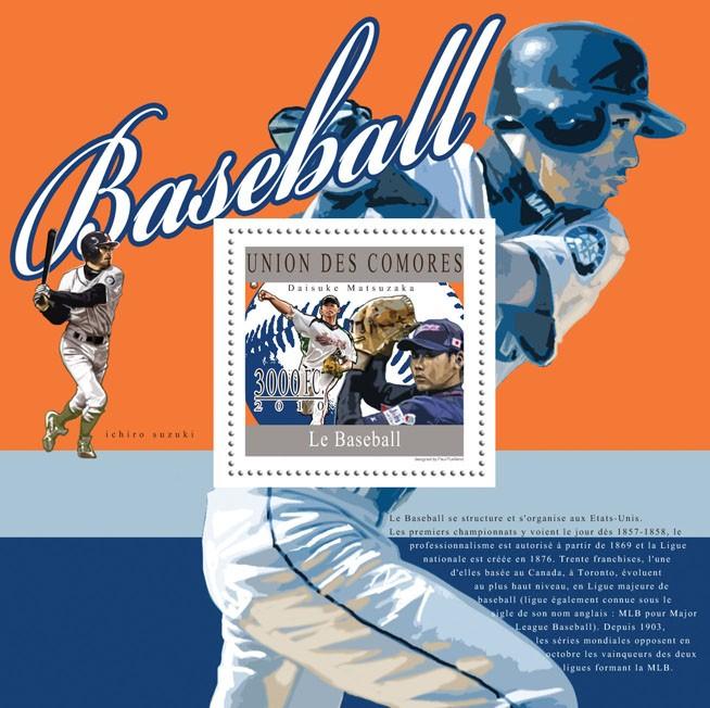 Baseball, (Daisuke Matsuzaka). - Issue of Comoros postage stamps