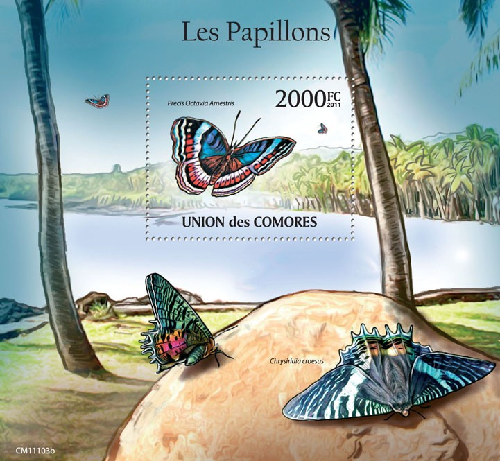 Butterflies III. - Issue of Comoros postage stamps
