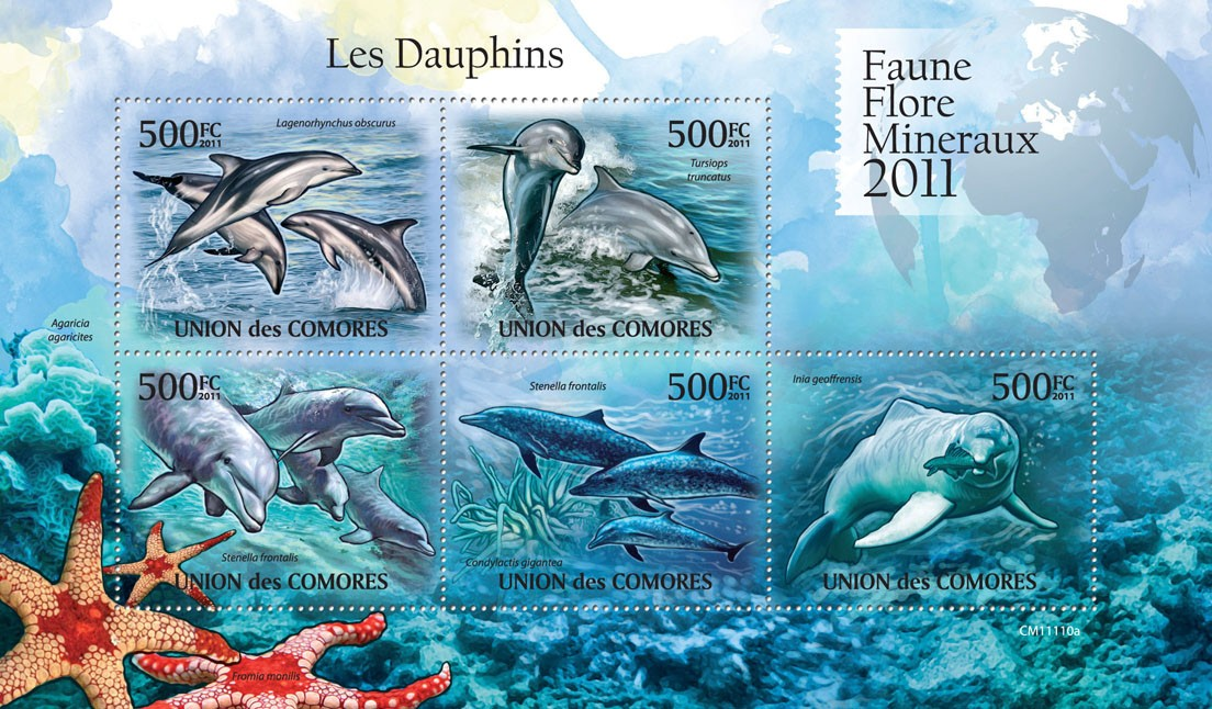Dolphins. - Issue of Comoros postage stamps