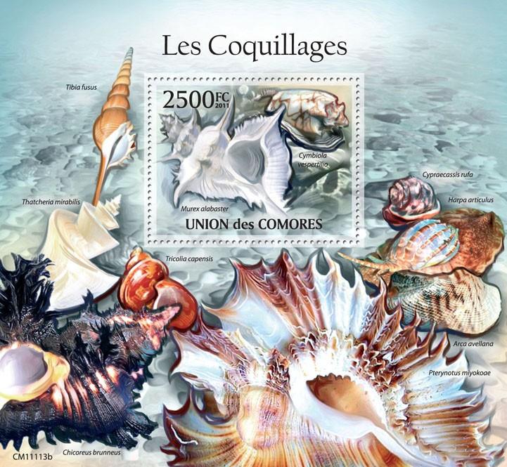 Shells (Murex alabaster). - Issue of Comoros postage stamps