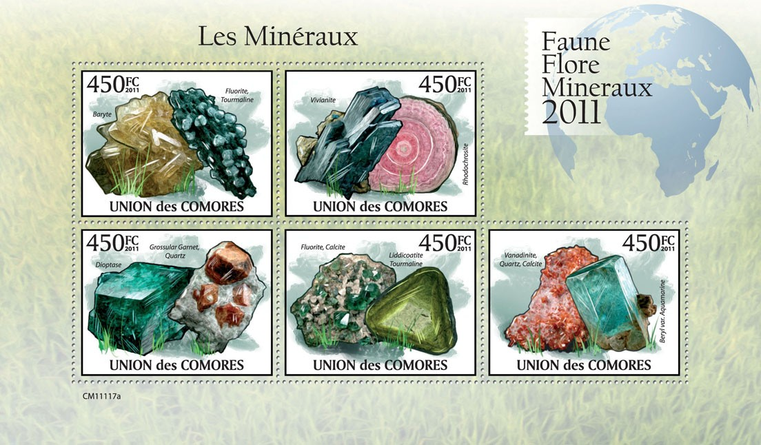 Minerals III, - Issue of Comoros postage stamps