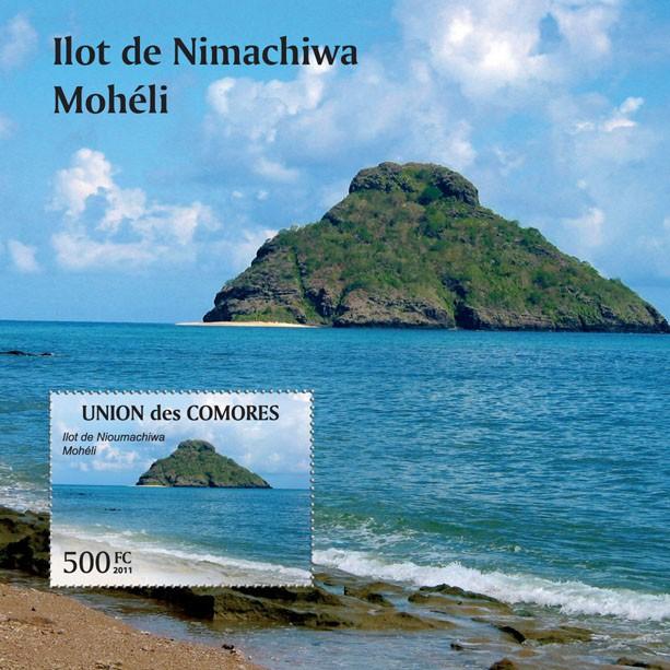 Ilot de Nimachiwa Moheli - s/s - Issue of Comoros postage stamps