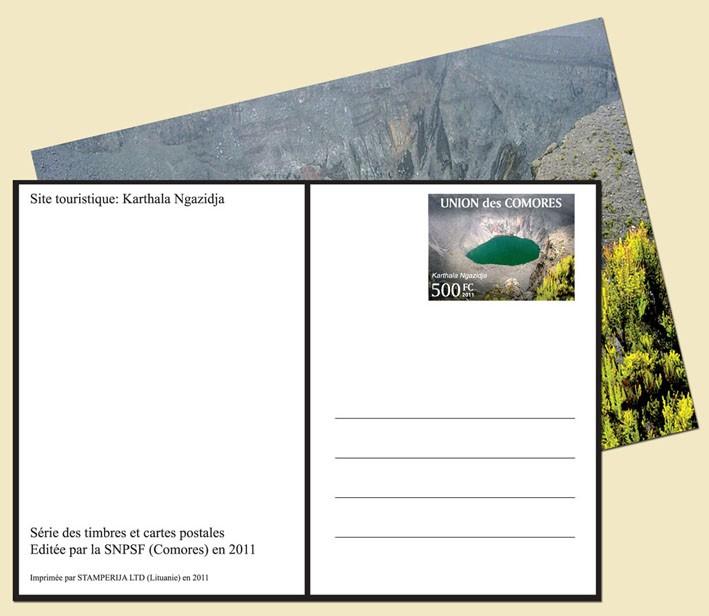 Karthala Ngazidja - Issue of Comoros postage stamps