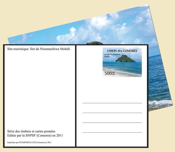 Ilot de Nimachiwa Moheli - Issue of Comoros postage stamps