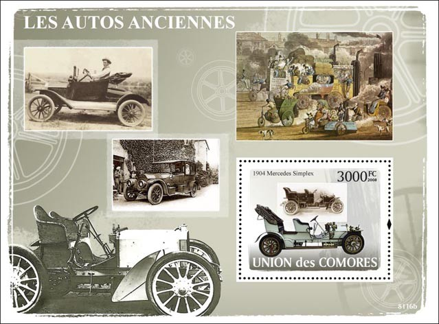 First Cars - Issue of Comoros postage stamps