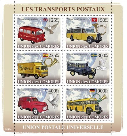 Post Transports - Issue of Comoros postage stamps