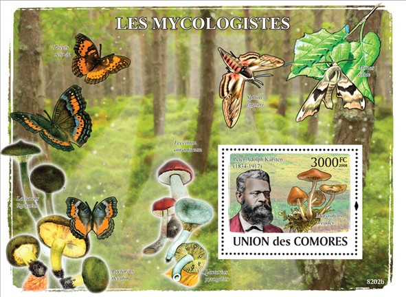 Mycologists & Mushrooms - Issue of Comoros postage stamps