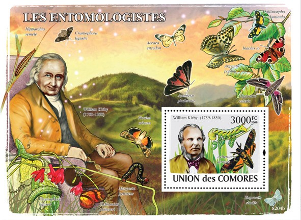 Entomologists  & Butterflies - Issue of Comoros postage stamps