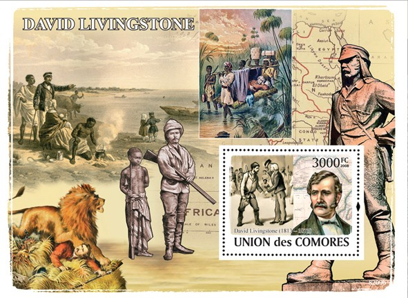 David Livingstone - Issue of Comoros postage stamps