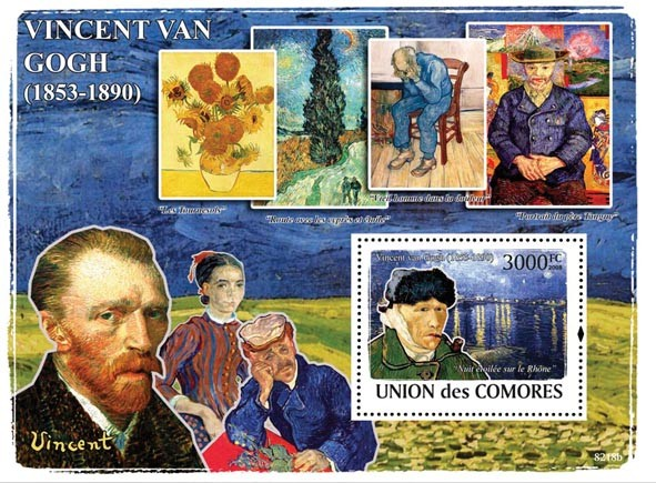 Vincent van Gogh & Paintings - Issue of Comoros postage stamps
