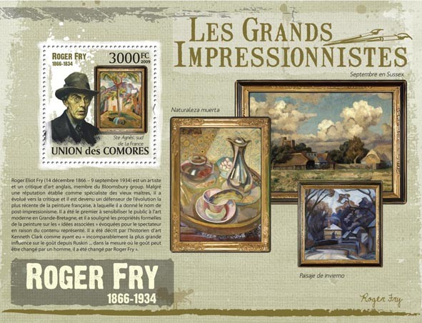 Paintings of Roger Fry ( 1866  1934 ) - Issue of Comoros postage stamps