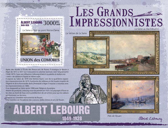 Paintings of Albert Lebourg ( 1849  1928 ) - Issue of Comoros postage stamps