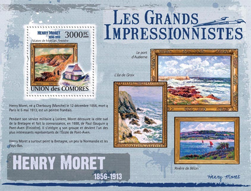 Paintings of Henry Moret ( 1856  1913 ) - Issue of Comoros postage stamps
