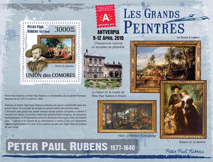 Peter Paul Rubens - Issue of Comoros postage stamps